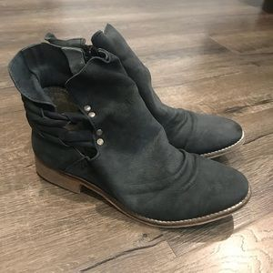 Free people leather ankle boots booties shoes 6.5